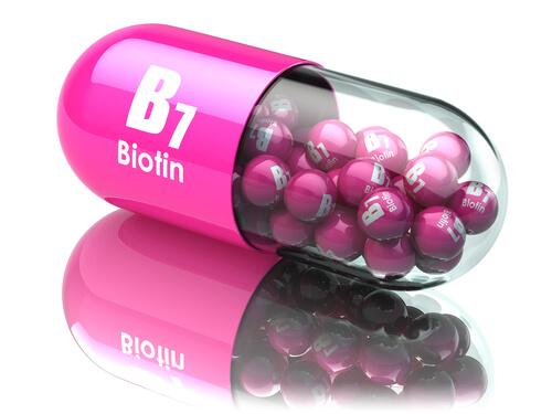 Biotin hair supplement