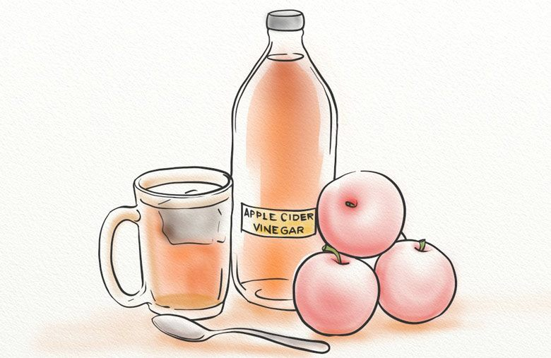 Apple cider vinegar shampoos gently cleanse the scalp